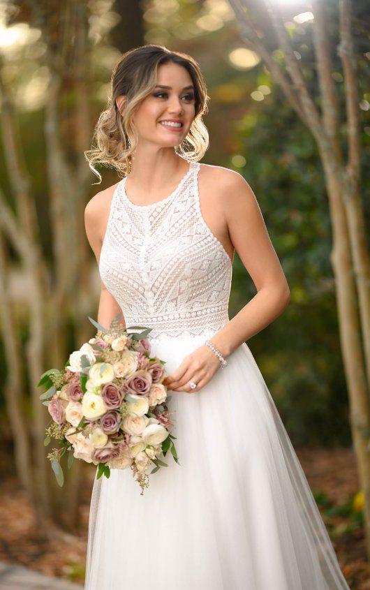 Stella York | Boho Lace Halter Wedding Dress -   18 dress Simple pictures ideas