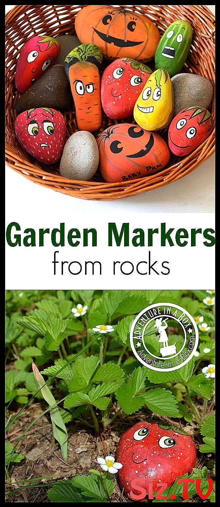 Photo of How to Make Garden Markers from Rocks Simple cheap and cute craft to make in p  …