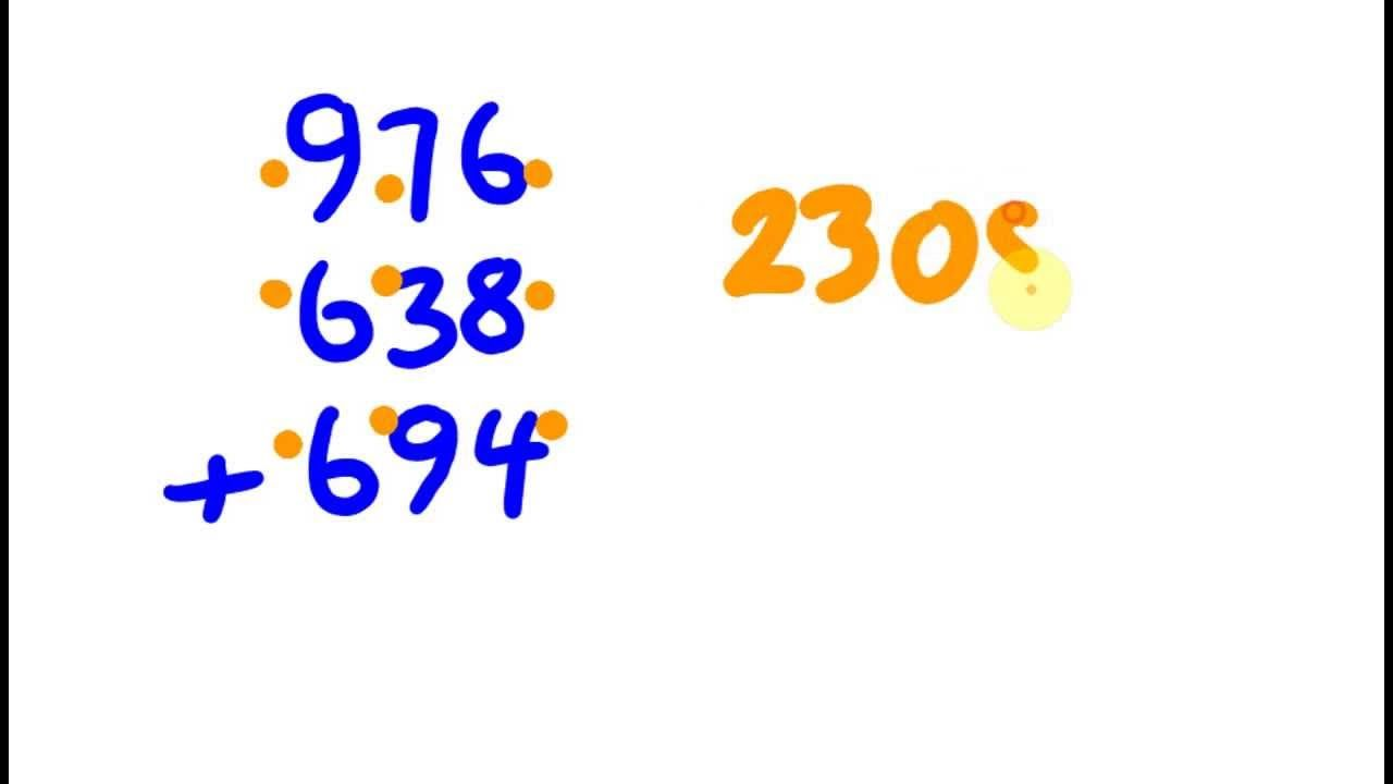 Mental Addition Trick Add Large Numbers Rapidly Math Tricks Math For Kids Math Methods Khan academy adding digit numbers