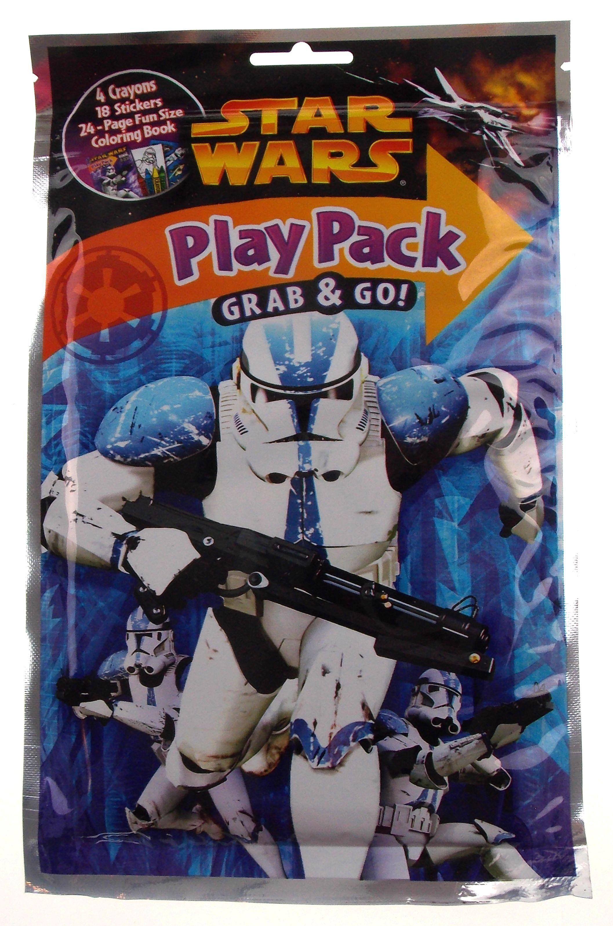 Star Wars Play Pack Stormtroopers Grab & Go Set 8 Coloring Book ...
