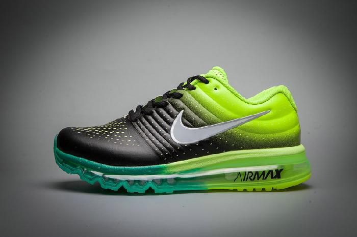 best service f825d 93bf4 Clearance Nike Air Max 2017 Leather Black Fluorescent Green Sports Shoes  New -  74.99