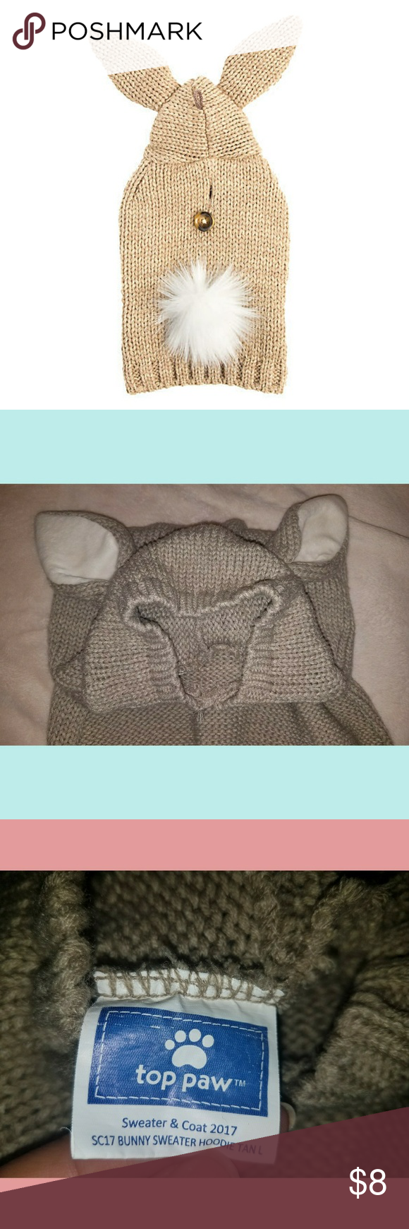 Top Paw® Bunny Sweater Pet Hoodie   Bunny designs, Bunny