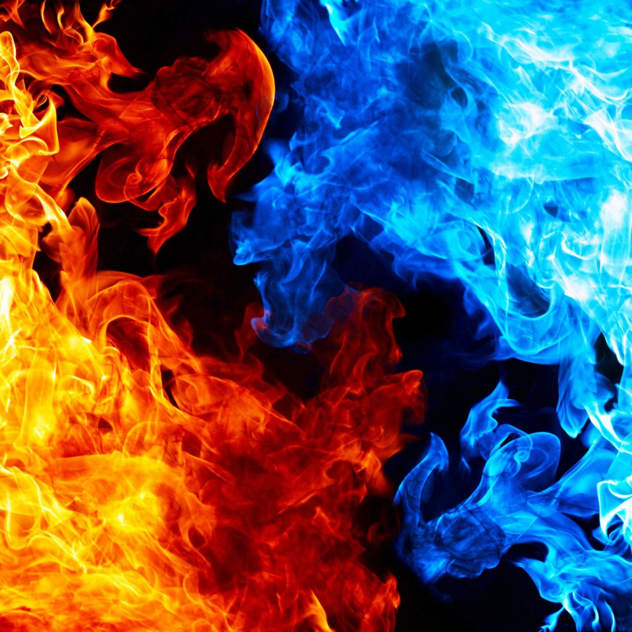 Red And Blue Fire Wallpaper Fire And Ice Red And Blue Wallpaper