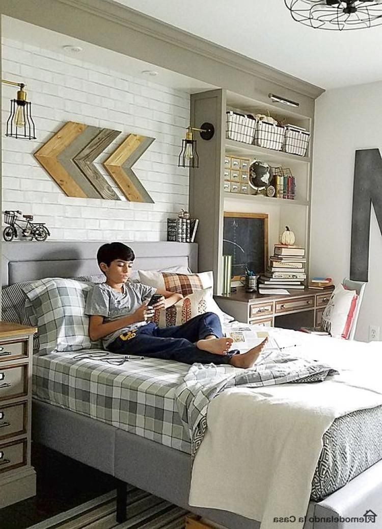 35 adorable farmhouse bedroom for kids design ideas the - Mens bedroom ideas for apartment ...