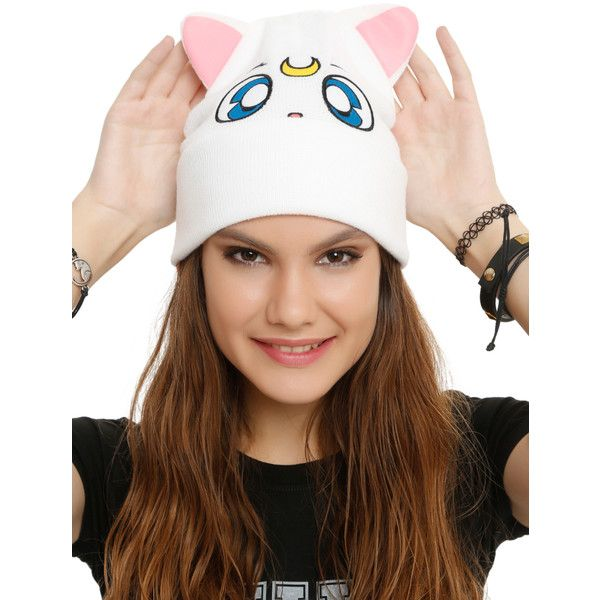 eed023ae8a4 Hot Topic Sailor Moon Artemis Beanie ( 13) ❤ liked on Polyvore featuring  accessories