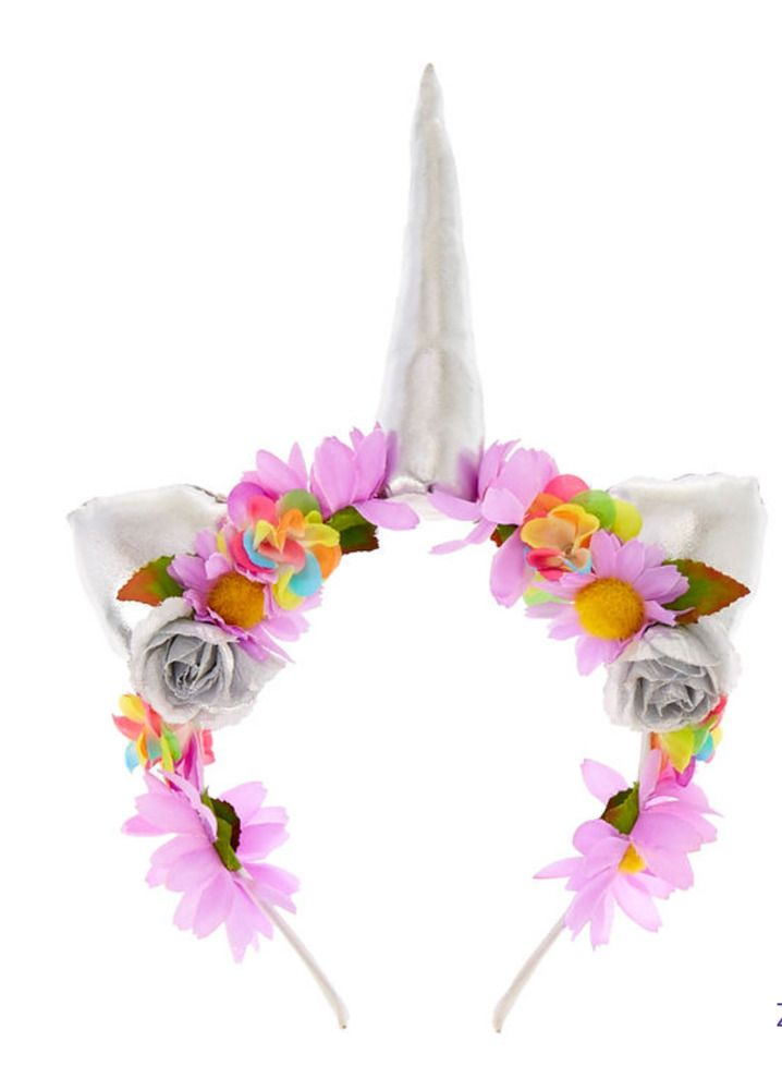 Claire s Girl s Floral UNICORN Headband NWT  Claires f1f3a098793