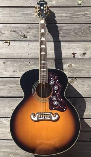 Guitar Epiphone Ej 200 Vs Jumbo Vintage Sunburst Guitar Please Retweet Sonhos
