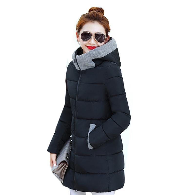 5522e6760 Women thicken warm hooded down jacket coat 2018 High Quality Ladies ...