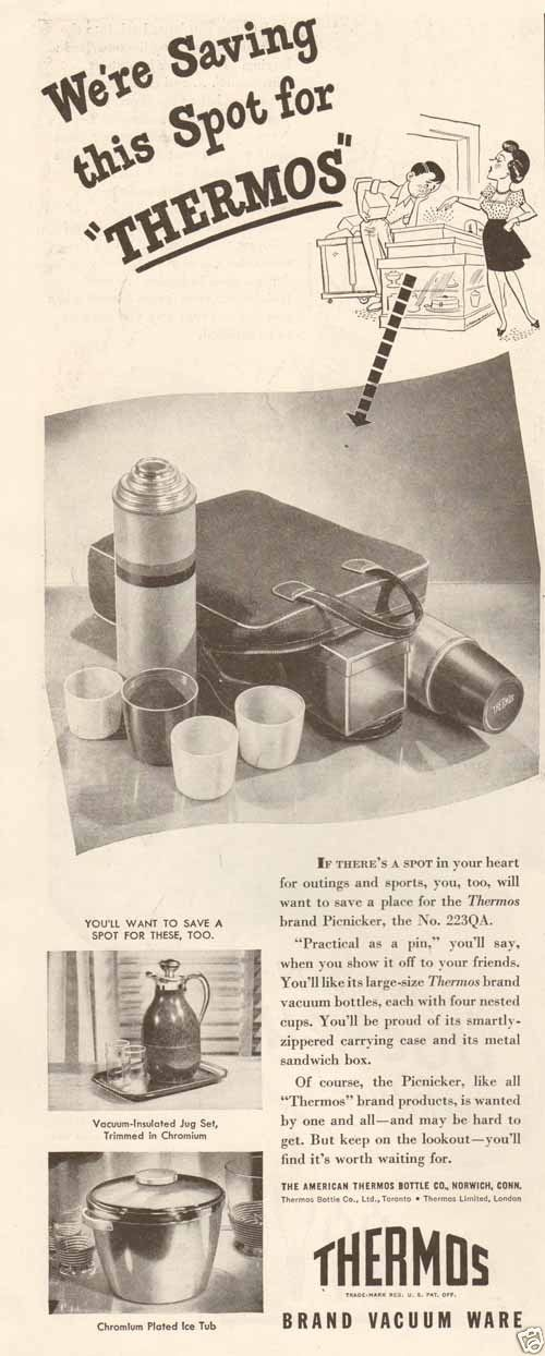 Yeti Coffee Thermos: Details About 1940s Vintage THERMOS Vacuum Bottle LUNCHBOX