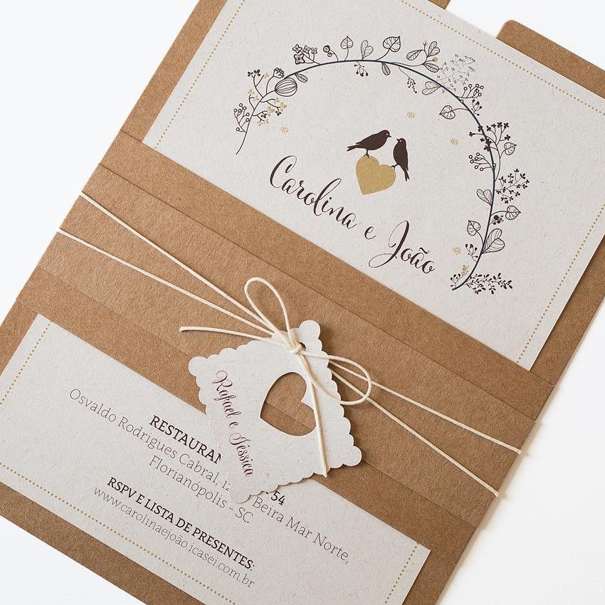 Convite Casamento Passarinho | Wedding, Weddings and ...