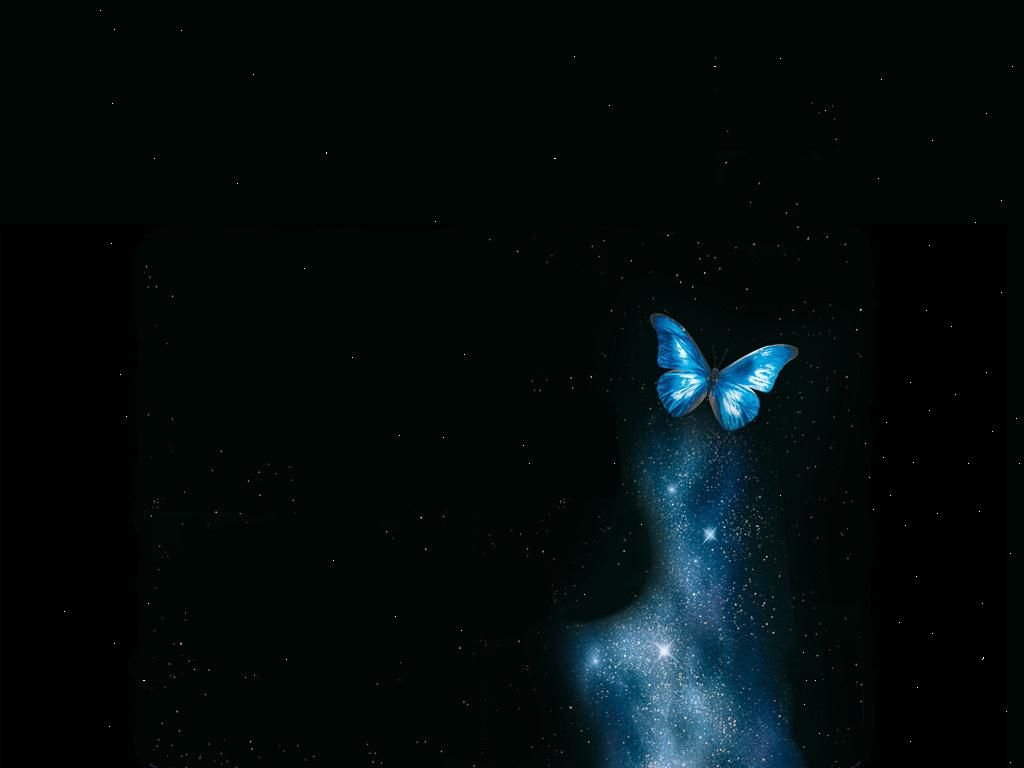 abstract butterfly blue magical black magic night stars wallpaper