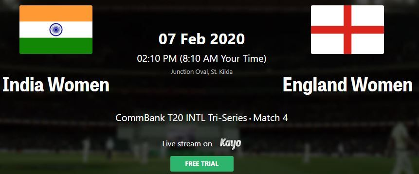 Ind W Vs Eng W T20 Live Streaming Live Score India W V India W Live Tv India England Women S Tri Series In A In 2020 Live Tv Streaming Tv