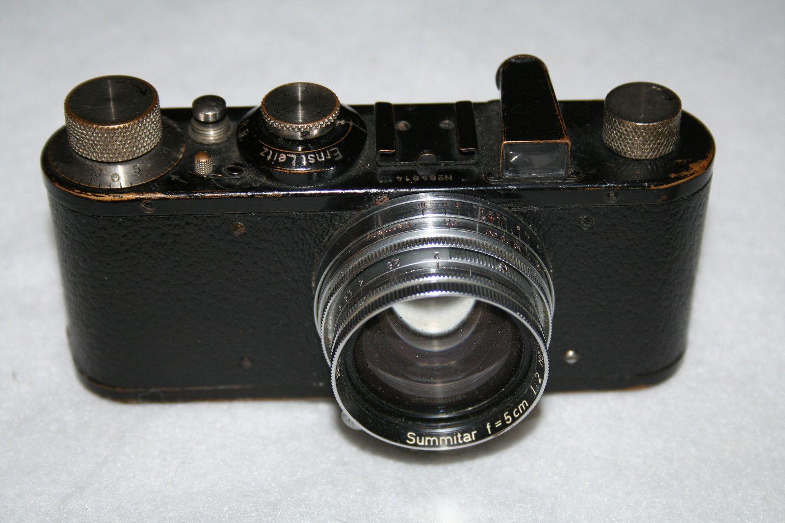 Leica I Made in 1931 with 1950 Summitar F 5cm 1 2 Lens Plus Lens Cap   eBay