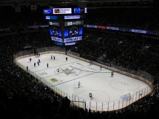 Watching The San Jose Sharks Ice Hockey GO SHARKS:)