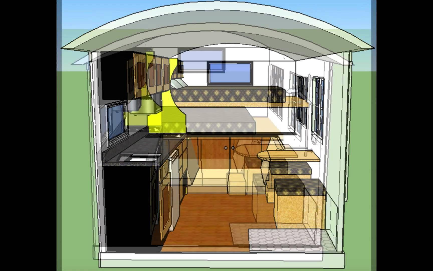 Tiny House Floor Plans Trailer 8x12 tiny house 2 hd 1080p. this tiny house can be built on a