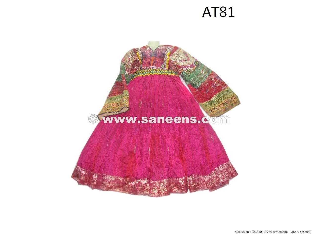 Traditional Afghan Long Skirted Thobe Dress For Women Genuine Embroidery
