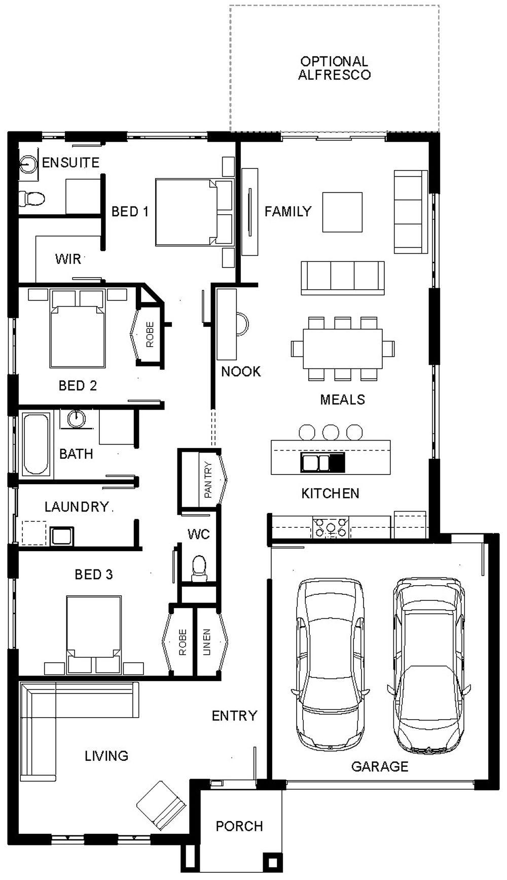 Floorplan Cora 1 Design Rumah Dream Homes Building A House Floor Plans