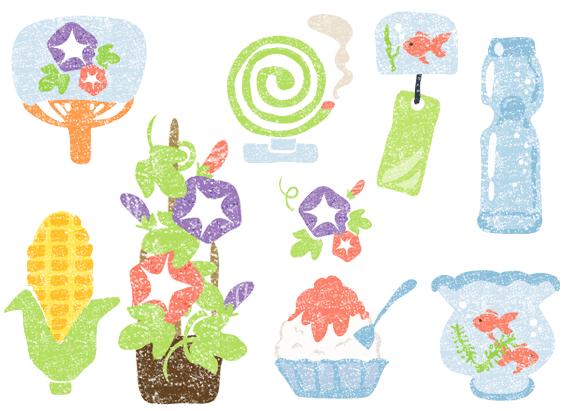 かわいい7月イラスト無料素材 Japan S Summer Tradition 7月 イラスト 無料 イラスト 風鈴 イラスト