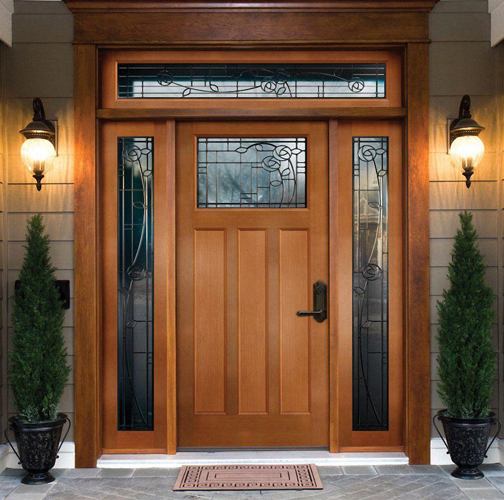 Solidd Front Doors With Glass Sidelights Decorative Exterior Door