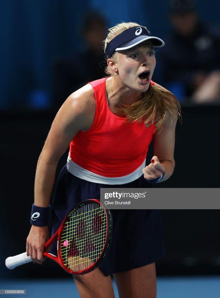 News Photo Harriet Dart Of Great Britain Celebrates A Point In 2020 Tennis Players Female Tennis Stars Celebrities