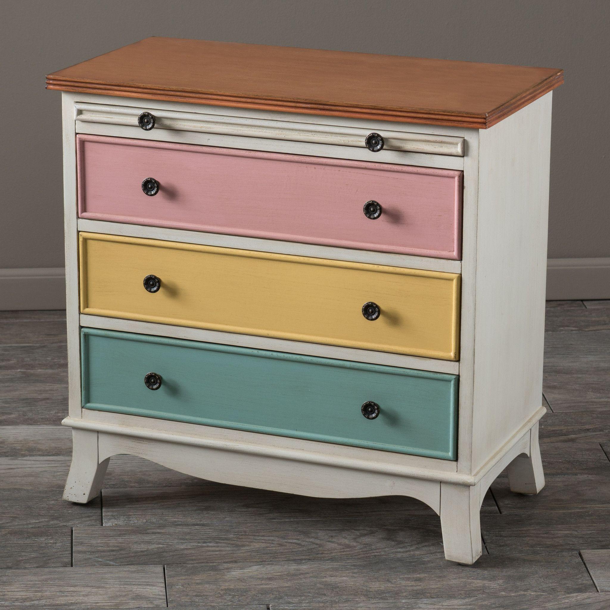 drawer pulls for furniture. Artour Multicolor 3-Drawer Pull-out Shelf Wood Cabinet Dresser Drawer Pulls For Furniture S
