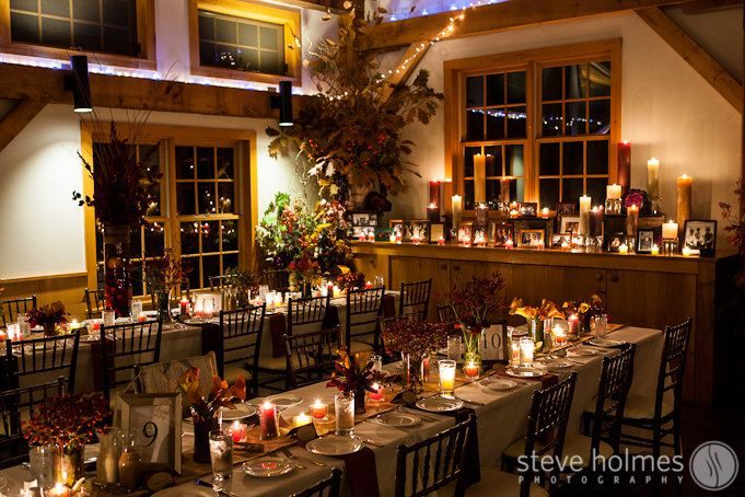 Warm Fall Wedding Details At Stonewall Farm Photo By Steve Holmes Photography Stonewall Farm Farm Table Stonewall