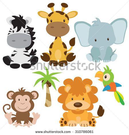 Cute Animals Cartoon Stock Photos Images Pictures Jungle Animals Animal Clipart Jungle Clipart