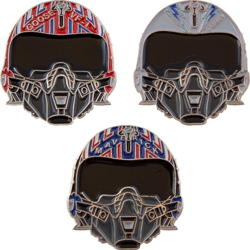 Photo of Helmets of Top Gun Collectible Enamel Pin Set Exclusive