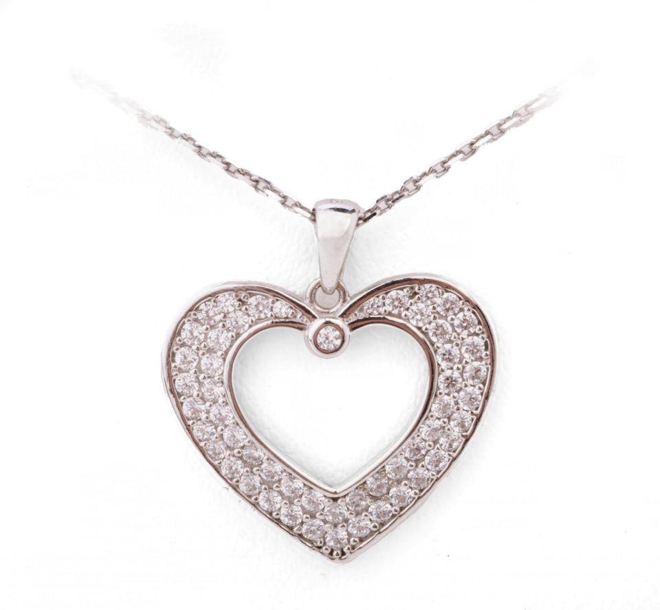 9de35ee23 Klenoty Aurum - náhrdelník s přívěskem (bílé zlato) | Freeport Fashion  Outlet