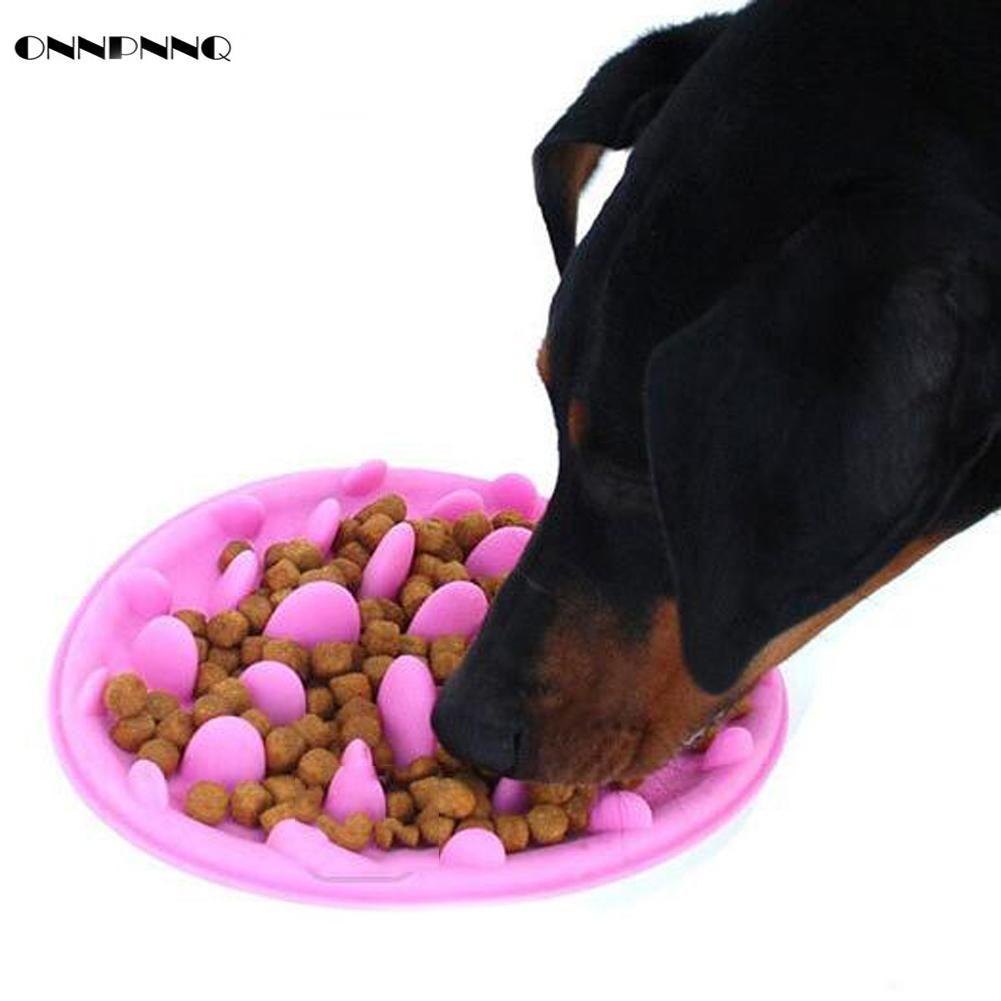 Onnpnnq Pet Dog Cat Silicone Slow Food Bowl Aid Digestion Jungle
