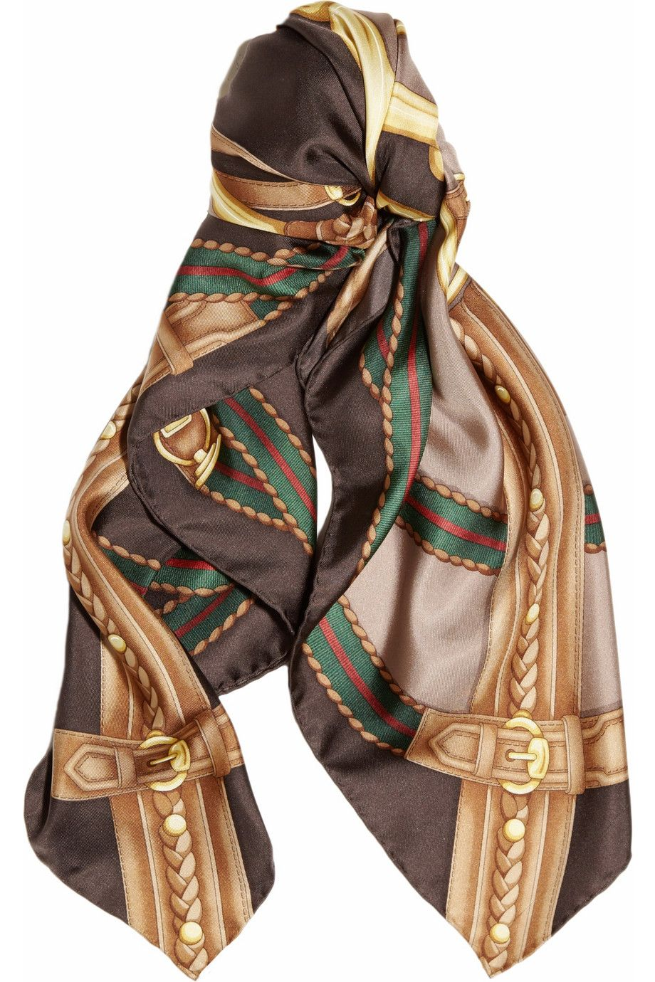 Gucci|Printed silk satin-twill scarf|NET-A-PORTER.COM