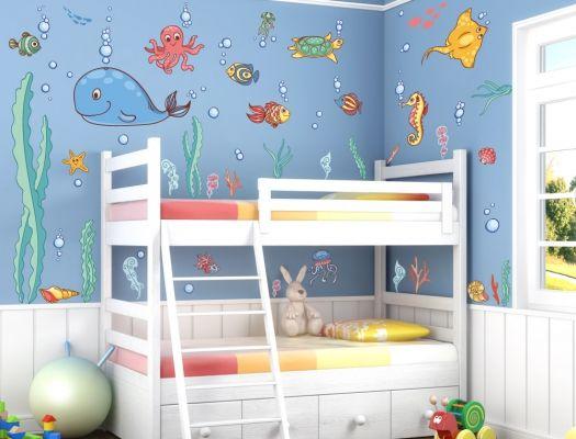 Etagenbett Yakari : Wandsticker unterwasserwelt xxl kinderzimmerdeko