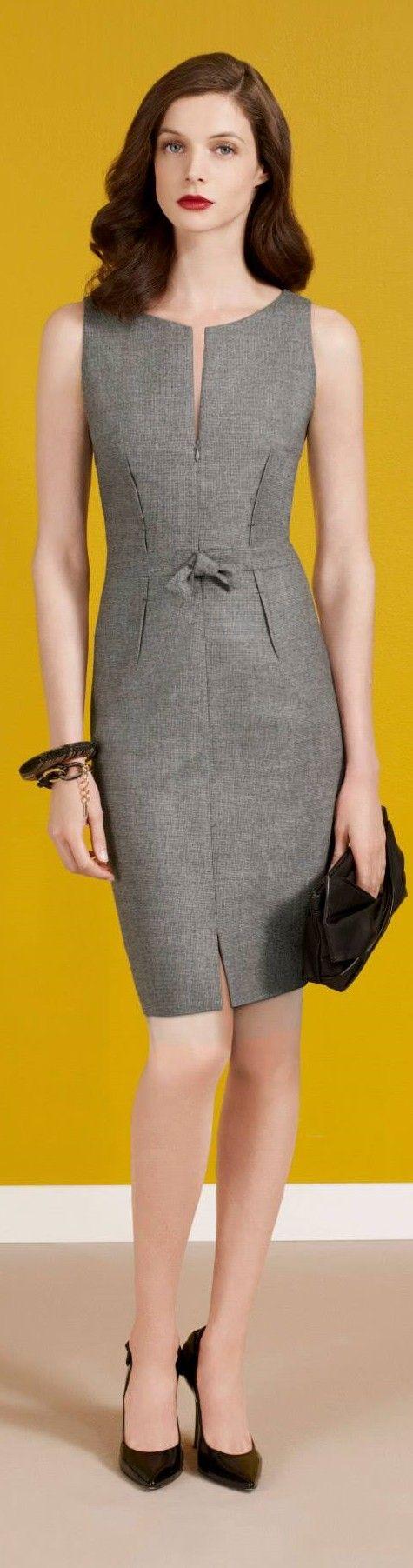 Paule ka gray dress fall autumn women fashion outfit clothing