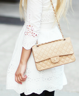Love The White With Beige Chanel Bag
