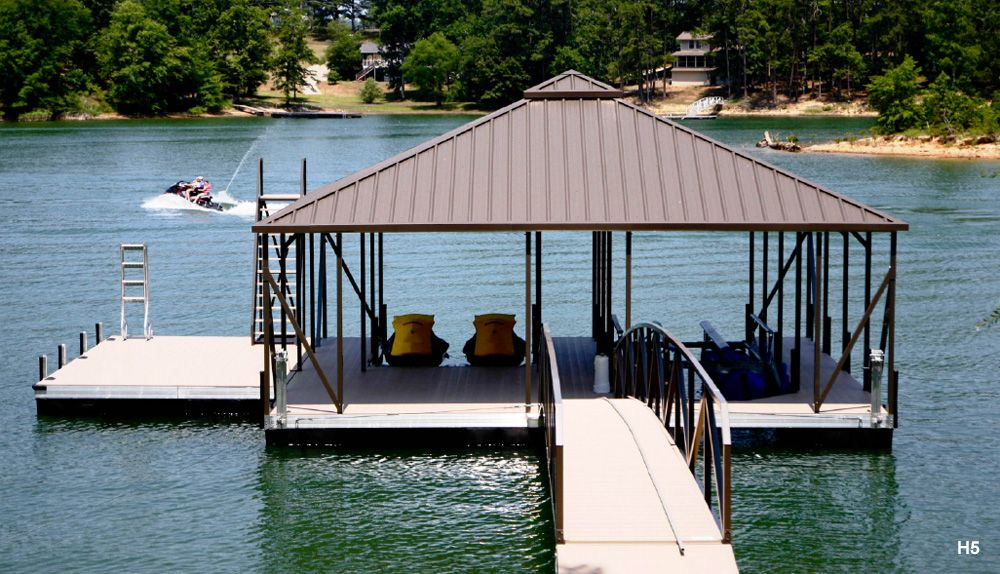 hip roof covered boat docks h5