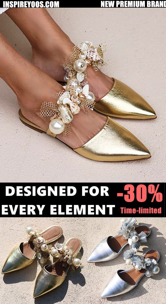Women Large Size Imitation Pearl Wedding Slippers In 2020 Shoes Outfit Fashion Wedding Slippers Stylish Shoes