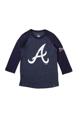 Atlanta Braves Power Hit 3/4 Length Sleeve Tee (Big Boys)