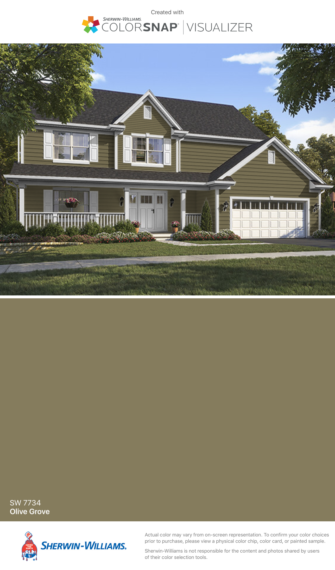 I Found This Color With Colorsnap Visualizer For Iphone By Sherwin Williams Olive Grove Sw 7734
