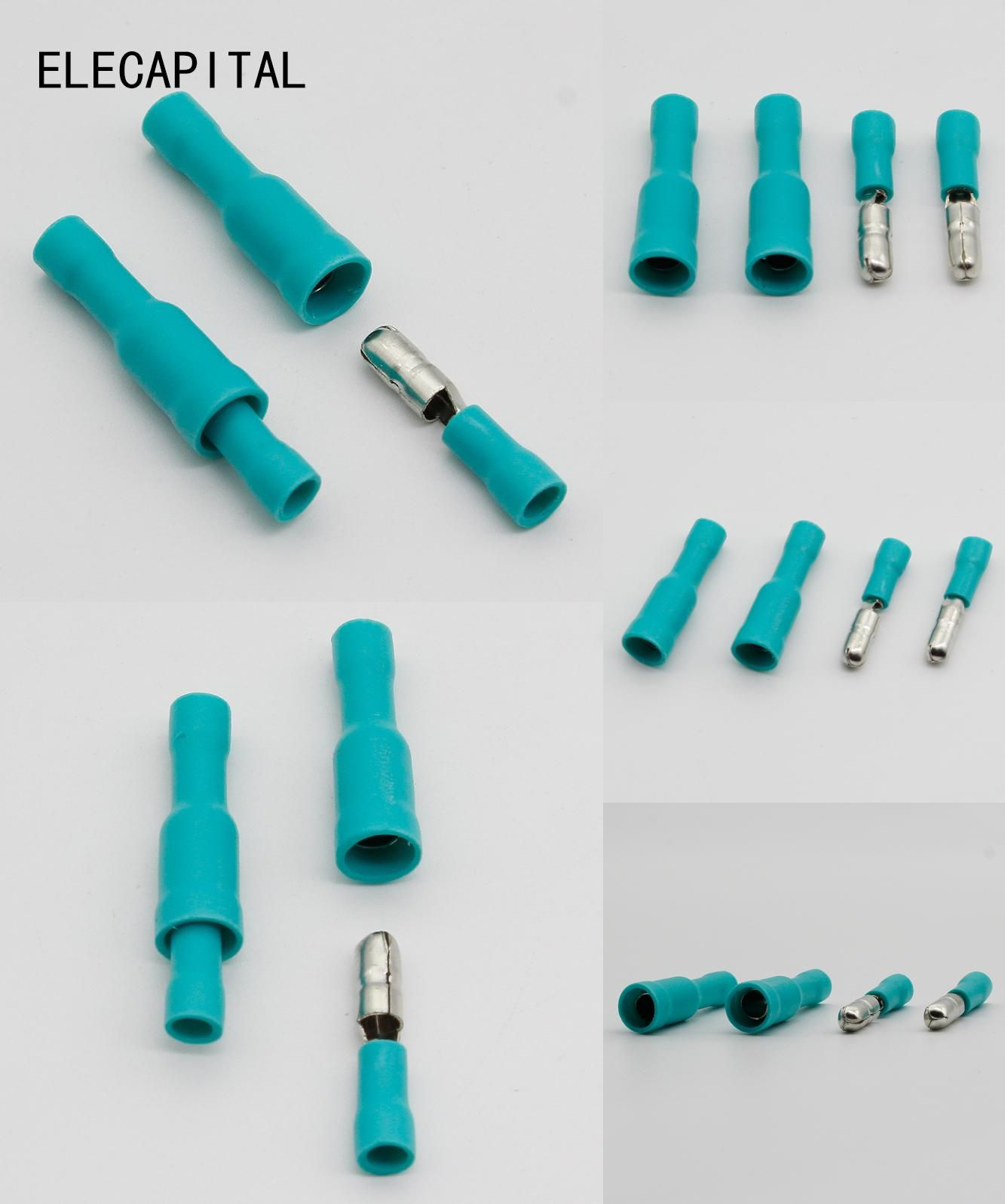 Visit to Buy] Hot 50 X Green Male Female Bullet Connector Crimp ...