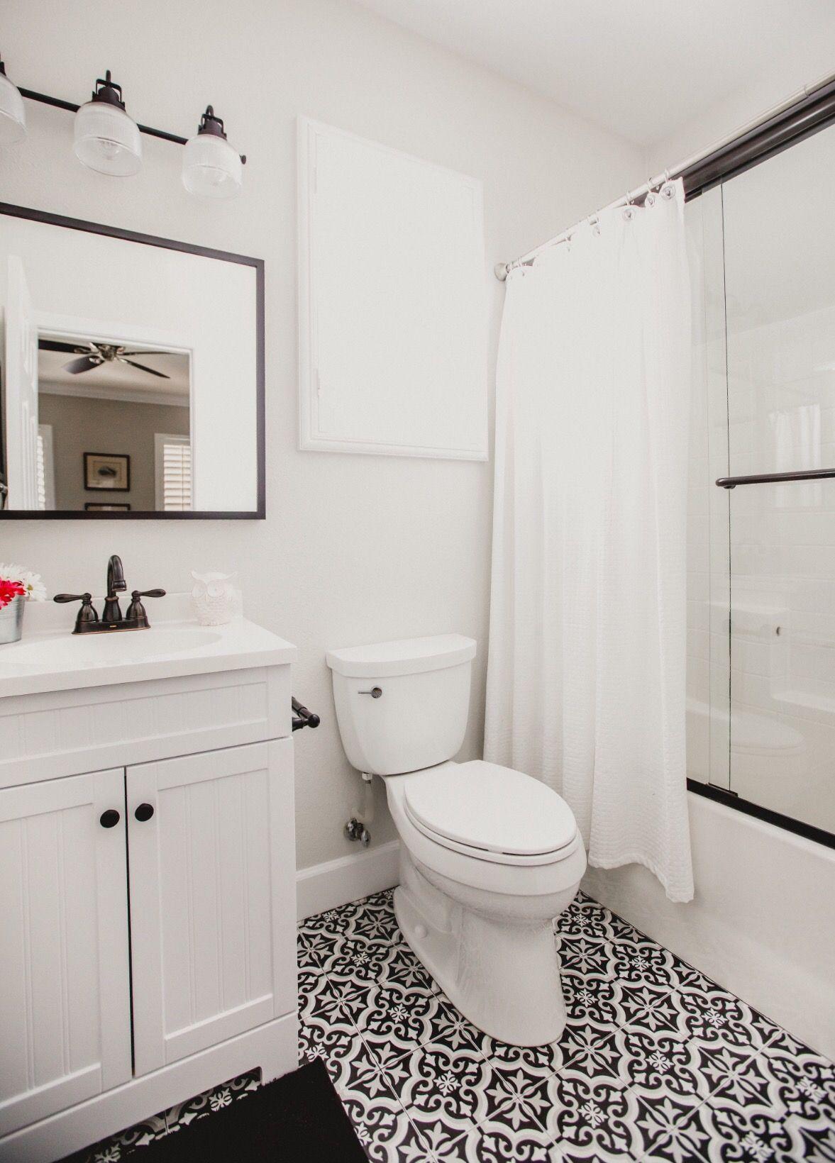 Bathroom Black And White Bathroom Classic Bathroom Merola Tile Lowes Vanity Bathroom Design Black Bathroom Bathrooms Remodel Bathroom Design Small