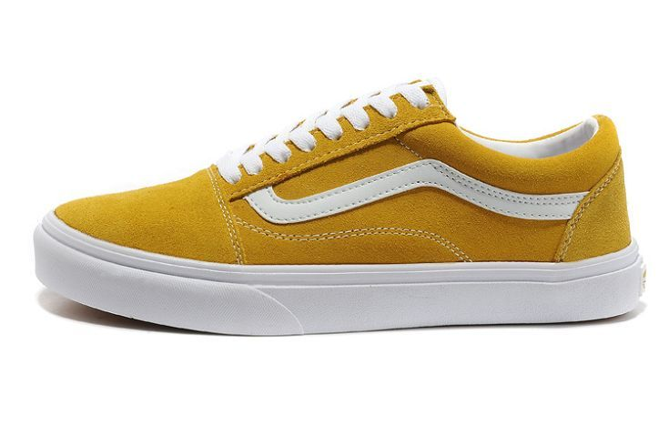91f6f89a7b5b Vans shoes sale UK Old Skool Suede Skate Shoes Mens Yellow V427 ...