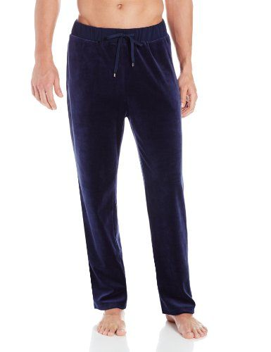 662a9384a BOSS Black by Hugo Boss Men's Velour Lounge Pants, 499, Large Features tie  front. Navy velour fabrication. #BOSS_Black_by_Hugo_Boss #Apparel