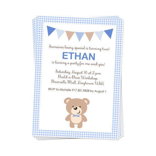 PRINTABLE Boy Or Girl Teddy Bear Party Invitation