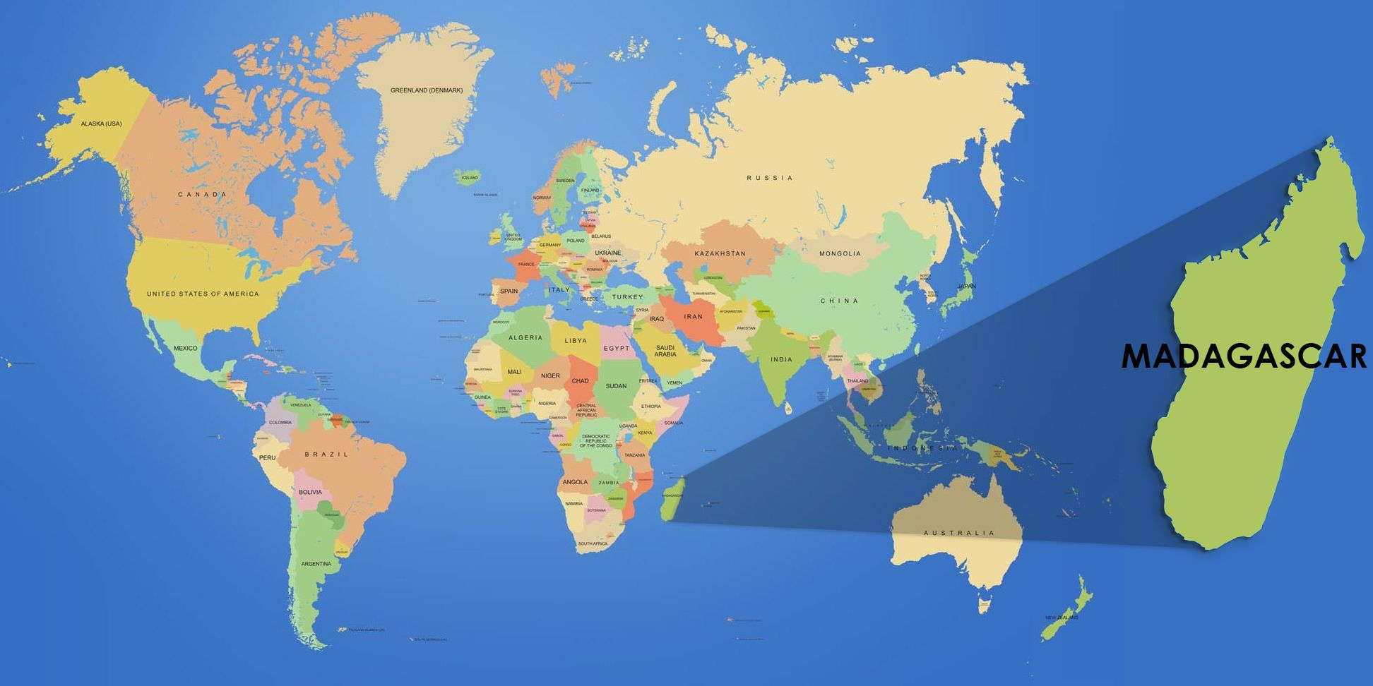 New Madagascar On World Map 3 | Madagascar | Map, Madagascar, Diagram