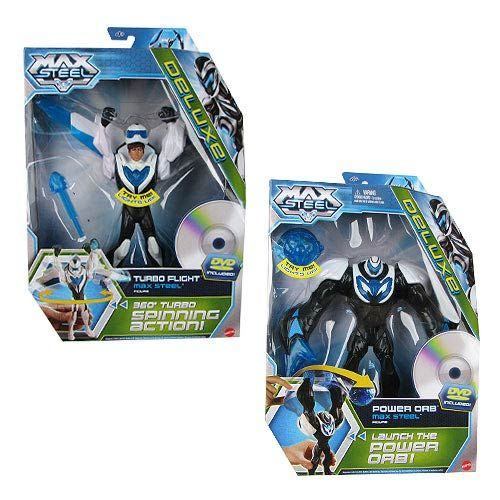Max Steel Deluxe Action Figure with DVD Case | Action Figures ...