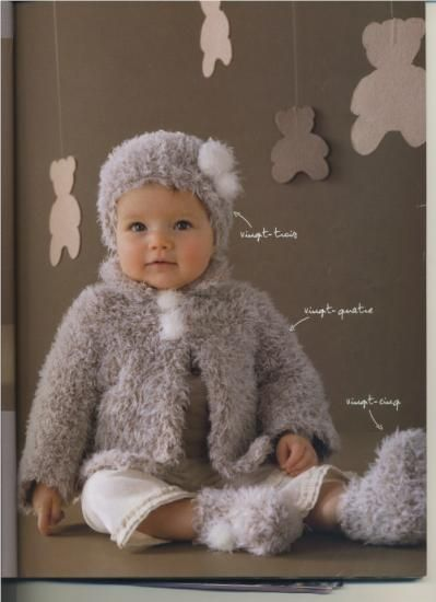 2220bbb58b624 gabarit modèle gratuit tricot layette fille
