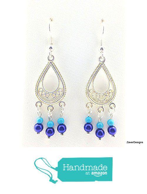 Silver Filigree Teardrop Chandelier Earrings From Zaverdesigns Com