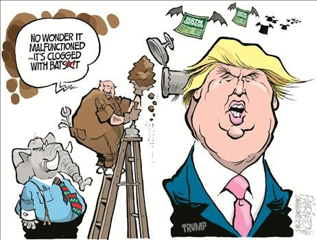 Image result for trump idiot cartoons