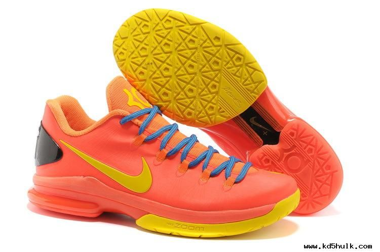 Nike KD V Elite Team Orange/True Yellow-Total Orange-Photo Blue