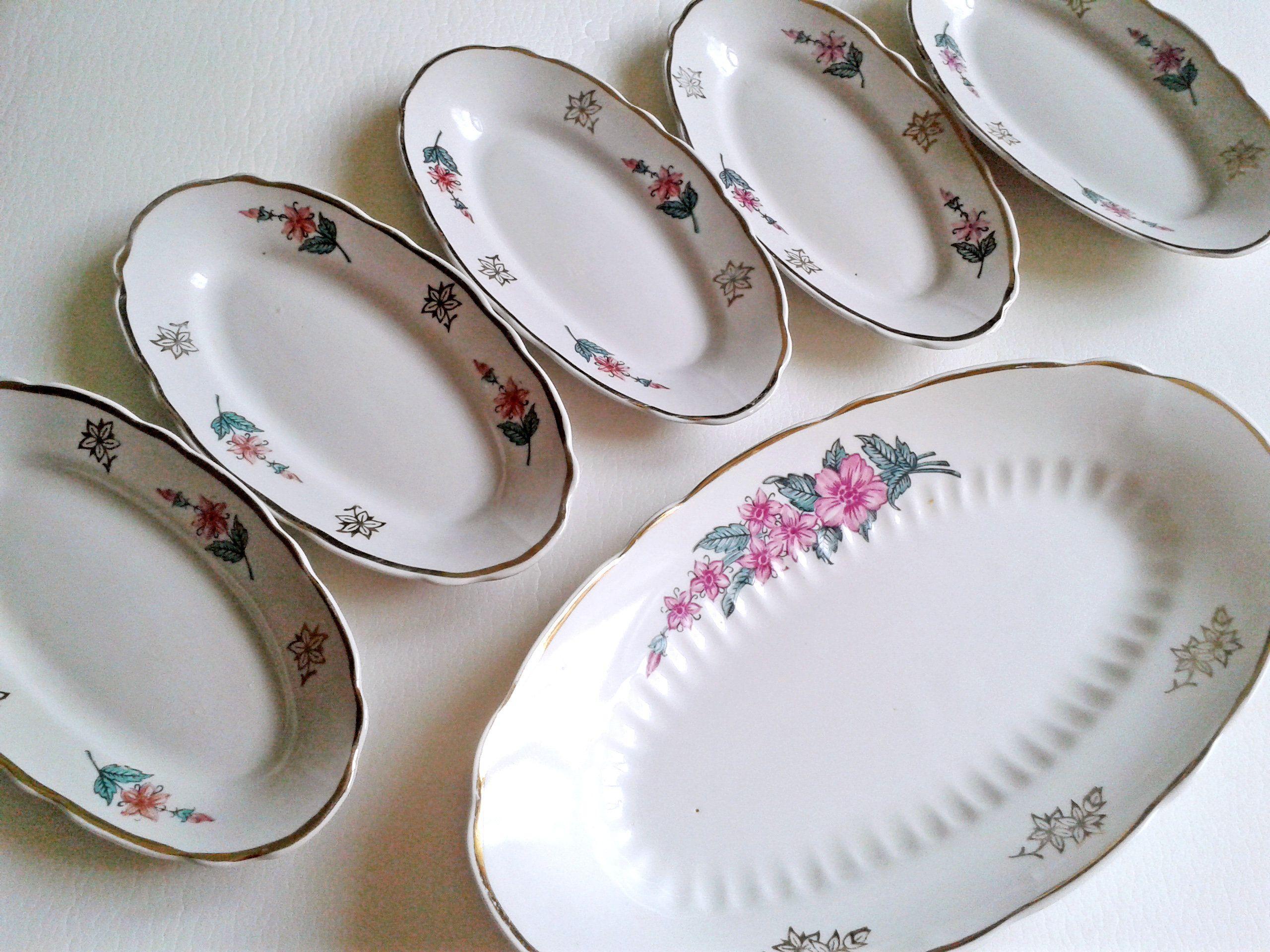 Set of 6 Small Ceramic Plates Porcelain Small Ceramic Dishes
